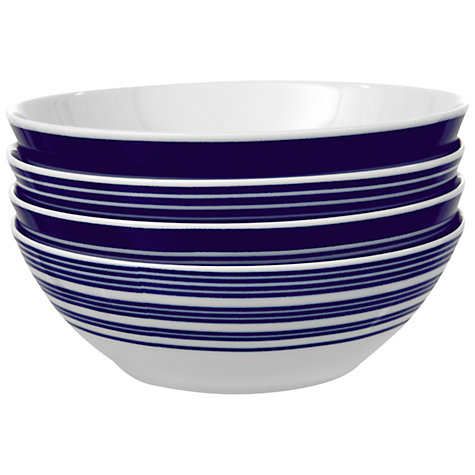 Buy John Lewis Stripes Bowls, Dia.17cm, Set of 4 Online at johnlewis.com