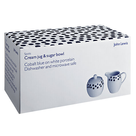 Buy John Lewis Spots Sugar & Cream Set Online at johnlewis.com