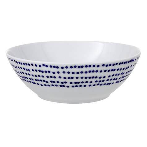 Buy John Lewis Spots Bowls, Blue, Dia.17cm, Set of 4 Online at johnlewis.com