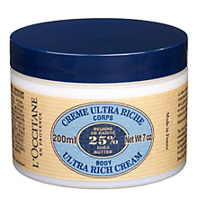 Buy L'Occitane Shea Butter Body Cream, 200ml Online at johnlewis.com