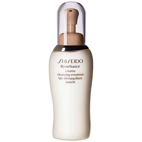 Buy Shiseido Benefiance Creamy Cleansing Emulsion, 200ml Online at johnlewis.com