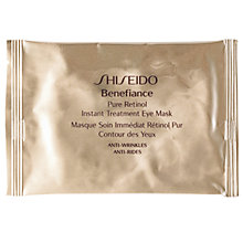Buy Shiseido Benefiance Pure Retinol Instant Treatment Eye Masks x12 Online at johnlewis.com