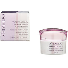 Buy Shiseido White Lucency Recovery Night Cream, 40ml Online at johnlewis.com