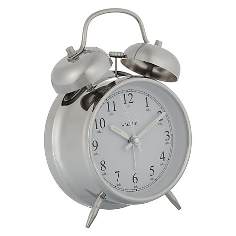 Buy John Lewis Twin Bell Alarm Clock Online at johnlewis.com