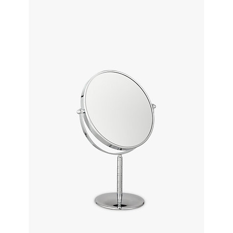 Buy John Lewis Chrome Stand Mirror, Dia.19cm Online at johnlewis.com