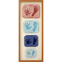 Buy Imprints Gift Certificate, 4 Double Family Prints, Natural Pine or Whitewash Frame Online at johnlewis.com