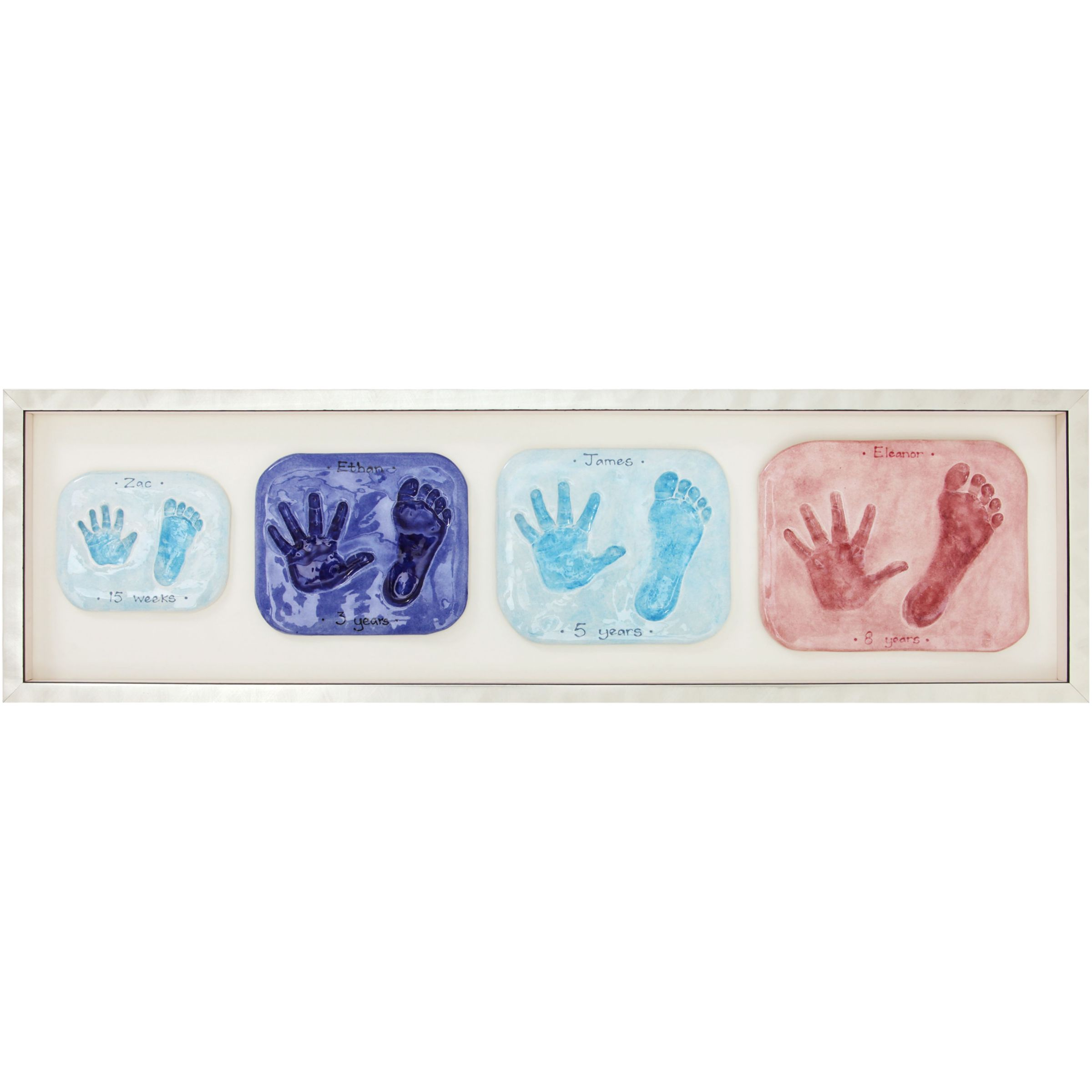 Imprints Gift Certificate, 4 Double Family Prints, Silver Frame