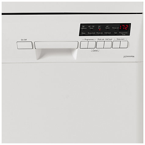 Buy John Lewis JLDWW906 Slimline Dishwasher, White Online at johnlewis.com