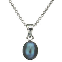 Buy EWA Grey Pearl Drop Pendant Online at johnlewis.com