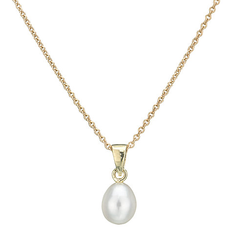 Buy Fresh Water Pearl Necklace, White Online at johnlewis.com