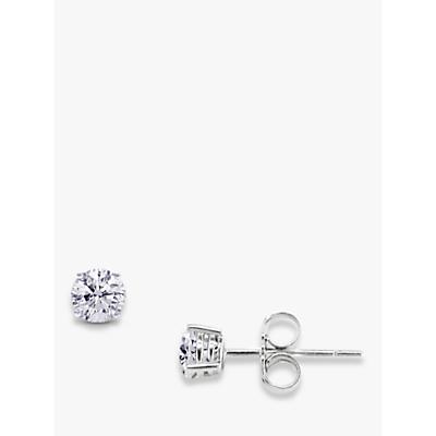 EWA 18ct White Gold Brilliant Cut Diamond 0.25ct Stud Earrings, White Gold