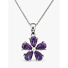 Buy EWA Violet Amethyst Flower Pendant Online at johnlewis.com