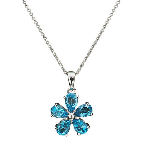 Buy EWA Blue Topaz Flower Pendant Online at johnlewis.com