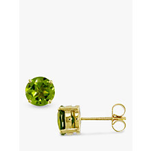Buy EWA Peridot Stud Earrings Online at johnlewis.com