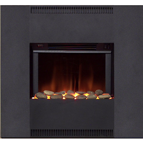 Buy Burley Fuel-Effect Electric Fire, Oakham 537BL-R, Black Online at johnlewis.com