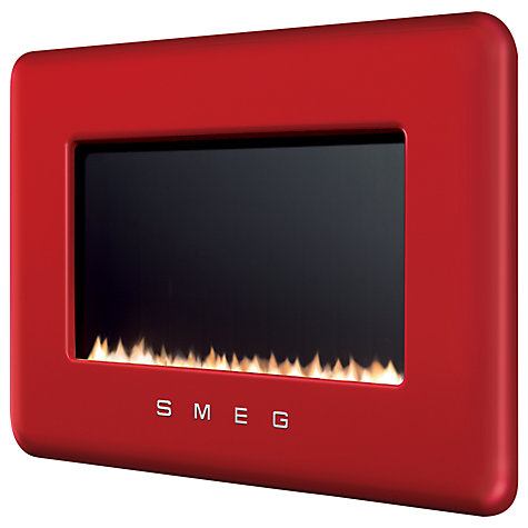 Buy Smeg L30FABRE Flueless Gas Fire, Red Online at johnlewis.com