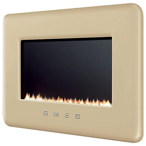 Buy Smeg L30FABCR Flueless Gas Fire, Cream Online at johnlewis.com