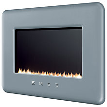 Buy Smeg L30FABSI Flueless Gas Fire, Silver Online at johnlewis.com