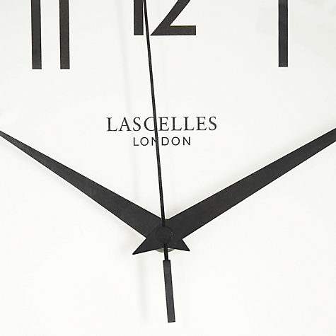 Buy Lascelles Chrome Wall Clock, Dia.30cm Online at johnlewis.com