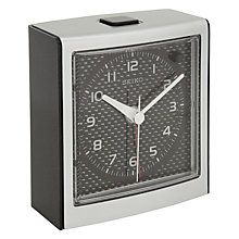 Buy Seiko Square Clock, Red/Black Online at johnlewis.com