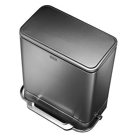 Buy simplehuman Rectangular Steel Bar Pedal bin, 55L Online at johnlewis.com