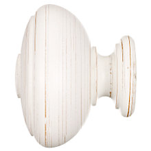 Buy John Lewis Scratched White Wood Vase Finial, 35mm Online at johnlewis.com
