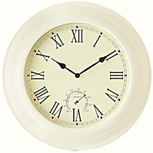 Buy John Lewis Belvedere Weather Clock, Cream Online at johnlewis.com