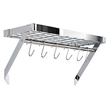 Buy Hahn Premium Wall Pan Rack, Chrome Online at johnlewis.com