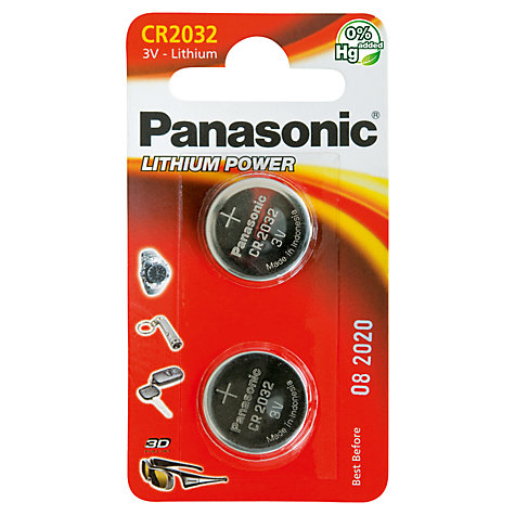 Buy Panasonic 3v Lithium Coin Cell Battery Cr2032 2bp