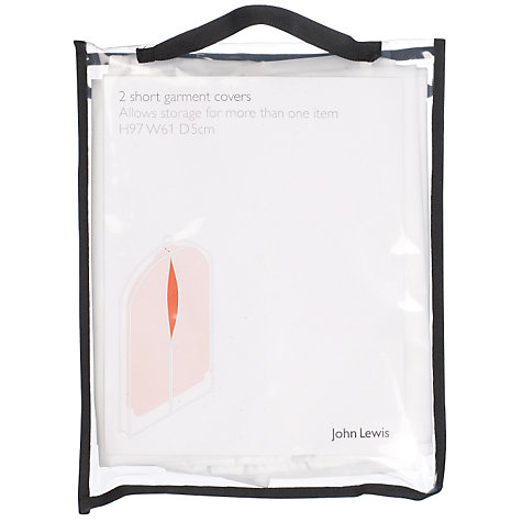 Buy John Lewis Short Transparent Garment Cover, Pack of 2 Online at johnlewis.com