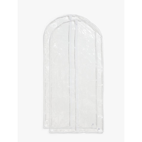 Buy John Lewis Transparent Long Garment Covers, Pack of 2 Online at johnlewis.com