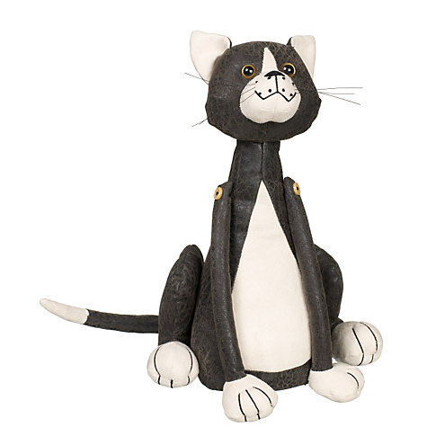 Buy John Lewis Black and White Cat Doorstop Online at johnlewis.com