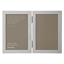 "Buy John Lewis Shiny Silver Vertical Frame, 4 x 6"" (10 x 15cm) Online at johnlewis.com"