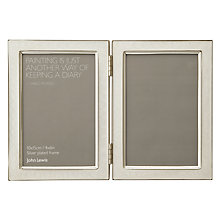 "Buy John Lewis Amy Enamel Double Photo Frame, 4 x 6"" (10 x 15cm) Online at johnlewis.com"