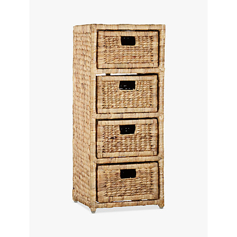 Buy John Lewis Water Hyacinth Storage Unit, 4 Drawer Online at johnlewis.com