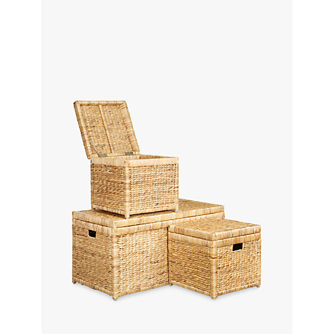 Buy John Lewis Water Hyacinth Trunks, Set of 3 Online at johnlewis.com