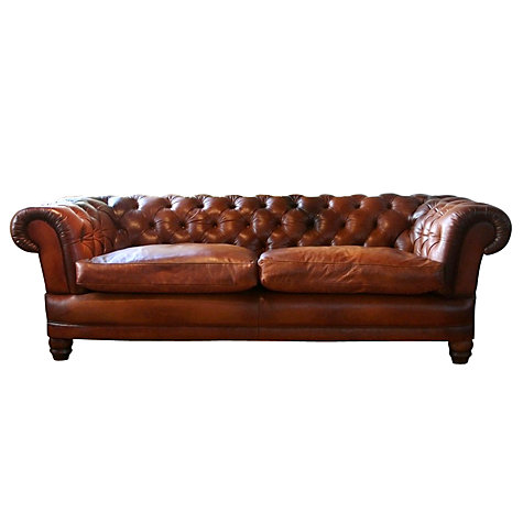 Buy John Lewis Chatsworth Grand Leather Sofa Online at johnlewis.com