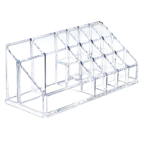 Buy John Lewis Cosmetics Organiser, Clear Online at johnlewis.com