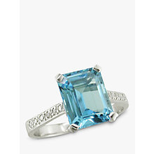 Buy EWA 18ct White Gold Diamond Shoulder Cocktail Ring Online at johnlewis.com