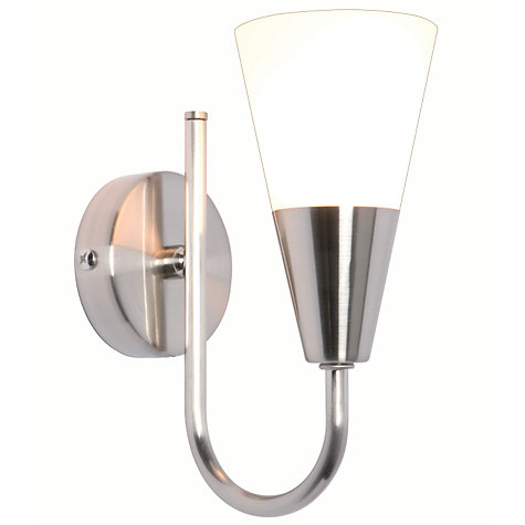 Buy John Lewis The Basics Lulu Wall Light, Brushed Chrome Online at johnlewis.com