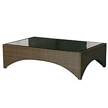 Buy Barlow Tyrie Savannah Rectangular Outdoor Coffee Table, Synthetic Wicker, 150.5 x 96.5cm Online at johnlewis.com