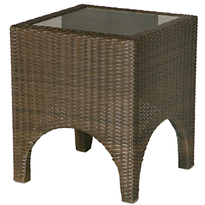Barlow Tyrie Savannah Square 2-Seat Outdoor Side Table