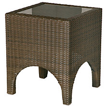 Buy Barlow Tyrie Savannah Square Outdoor Side Table, Synthetic Wicker, 46.5 x 46.5cm Online at johnlewis.com