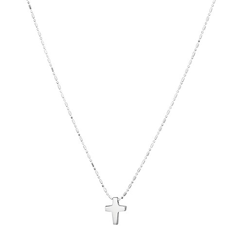 Buy Tales From The Earth Cross Necklace, Silver Online at johnlewis.com