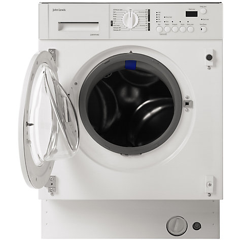 Buy John Lewis JLBIWM1402 Integrated Washing Machine, 6kg Load, A+ Energy Rating, 1400rpm Spin, White Online at johnlewis.com