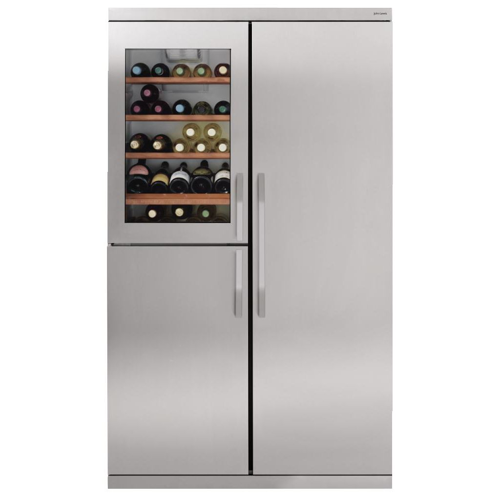 John Lewis Side by Side JLWFF1102 Wine Cooler Fridge Freezer,