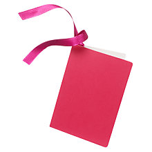 Buy Gift Tag, Fuchsia Online at johnlewis.com
