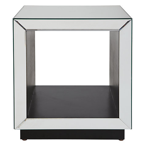 Buy John Lewis Astoria Mirrored Cube Side Table, Mirror Online at johnlewis.com