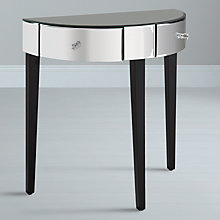 Buy John Lewis Astoria Mirrored Half Moon Console Table Online at johnlewis.com