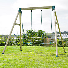 Buy TP Forest Double Wooden Swing Set Online at johnlewis.com
